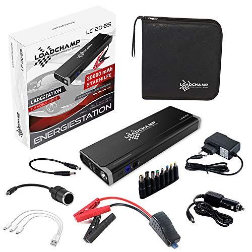 Loadchamp Lithium Auto Starthilfe Power-Bank Gerät 20000mAh 750A 12V Jump Starter Booster Akku Batterie