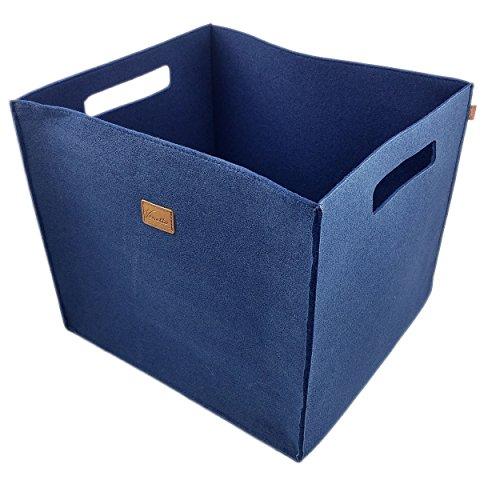 3-delige set vilten opbergkist opbergbox vilten mand kist vilt, mand, kist, dozen, opbergrek voor Ikea rek, kofferbak, kelderrek, plankmand 3 stuks, 3 stuks