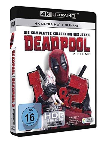 Deadpool 1+2 (3 Blu-rays 4K Ultra HD) (+ 3 Blu-rays 2D)