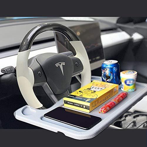 SUNACCL - Escritorio para volante de coche, multifunción, portátil, para coche, bandeja de volante, asiento de coche, portátil, mesa de comer para conductor (gris)