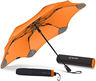 "BLUNT Metro Travel Umbrella with 37"" Canopy and Wind Resistant Radial Tensioning System"