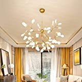 Sputnik Firefly Chandelier Led Pendant Lighting Ceiling Light Fixture Hanging Lamp by Luolax (Firefly 27 Heads, 23.6''22.44'')