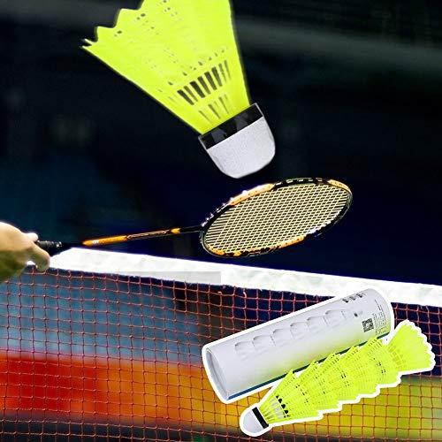 BOLORAMO Volano in Nylon con Testa a Sfera in Fibra di volano a velocità Media Volano da Badminton per attività al Coperto per la Ricreazione