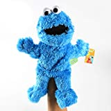 N\ A Sesame Street The Muppet Show Peluche Giocattolo Marionetta a Mano Giocattolo Burattini a Mano Animali per Bambini Elmo Cookie Mostro Burattino a Mano Bambola di Pezza 31CM/Blu