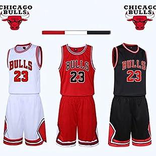 Kid Boy Mens NBA Michael Jordan #23 Chicago Bulls RETRO Basketball shorts Summer Jerseys Basketball Uniform Top&Short
