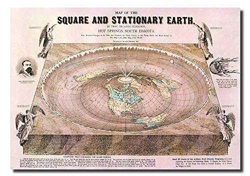 Mapa Tierra Plana - Flat Earth Map - Map of The Square