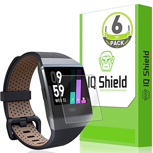IQShield Screen Protector Compatible with Fitbit Ionic (6-Pack) Anti-Bubble Clear Film
