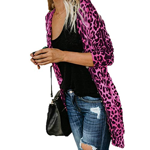 Amazing Deal Amlaiworld Women Cardigan Coat Long Blazers Long Sleeve Leopard Print Jacket Fashion Co...