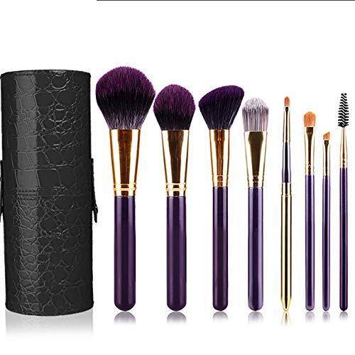 8 Pièces Maquillage Pinceau Set Cosmétiques Professionnels Brosse Baril Ombre À Paupières Pinceau Blush Pinceau Maquillage Outils