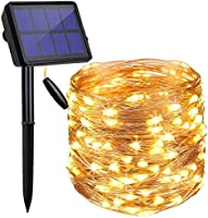 LED Solar String Lights Outdoor 72ft 200 LED Solar Powered String Fairy Tree Light with 8 Lighting...