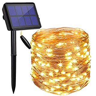 LED Solar String Lights Outdoor, Findyouled 20M 200 LED Solar Fairy Light with 8 Lighting Modes,Waterproof Outdoor Solar Lighting for Home,Garden,Decoration (Warm White) (B07PYSVG1Y) | Amazon price tracker / tracking, Amazon price history charts, Amazon price watches, Amazon price drop alerts