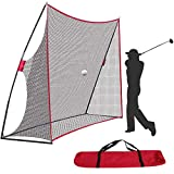 10x7ft Golf Net for Backyard Driving, Portable Golf Practice Net Indoor Outdoor Hitting Chipping Training Net w/Carry Bag