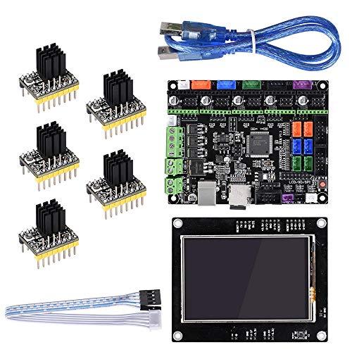 HU ZHANG Carte du Module imprimante 3D, BIGTREETECH 32 Bits SKR V1.1 MKSGEN-L + Carte Principale TFT35 Affichage à l'écran + 5pcs TMC2130 Driver Kit for imprimante 3D Reprap