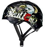 SkullCap Casque BMX - Casque Skate - Casque Velo, Design: Eagle - Casque Enfant, Taille: S (53 – 55 cm) Casque Enfant