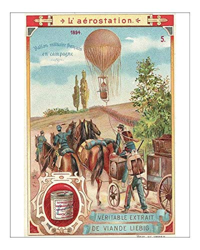 Media Storehouse 10x8 Print of French Military Hot Air Balloon (13588955)