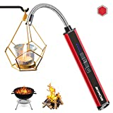 Boncas Candle Lighter, Large Capacity Windproof USB Lighter, Plasma Arc Lighter with Long Flexible...