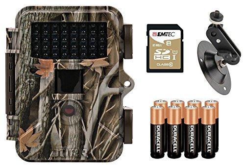 Wildkamera DÖRR Snapshot Mini 5.0 Black 12MP HD Fotofalle Premium Set mit Kugelkopfhalterung