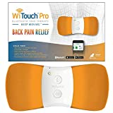 WiTouch Pro TENS Unit for Back Pain Relief, Largest Treatment Area with Highest Power Output Allowed, Includes 3 Pairs of Gel Pads (Orange)