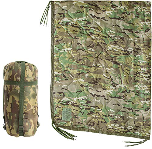 USGI Industries Military Spec Thermal Insulated Camping Blanket, Poncho Liner. Large Portable,...