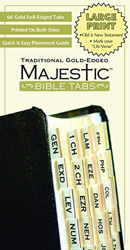 Majestic Bible Tabs: Traditional Gold-Edged Large Print