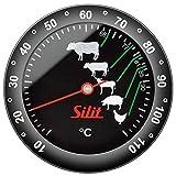 Silit Bratenthermometer analog Sensero Edelstahl rostfrei mit Markierung der empfohlenen