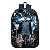 AH-Backpack Mochila para niños Impresión en 3D Patrón de película y televisión de Harry Potter Bolso de Escuela Negro de 16 Pulgadas Bolso de Hombro,Colour8