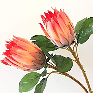 Silk Protea Cynaroides Artificial Emperor Flower for Wedding Home Party 1pcs