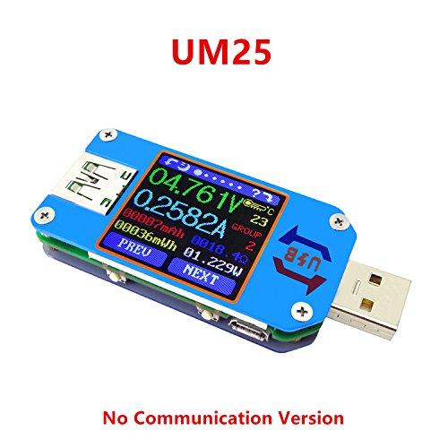 ARCELI APP USB 2.0 Typ C LCD Voltmeter Amperemeter Spannung Strommesser Batterieladekabel Widerstand USB Tester