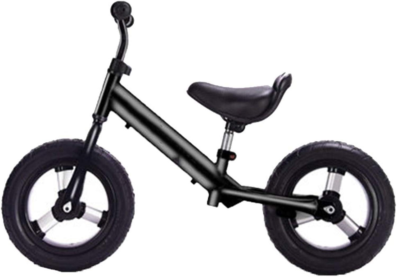 YUMEIGE Laufrder Kinder laufrad Auto aufblasbare Titan Leerrad, Lauflernrad 2-6 Jahre altes Kind, Sport, Balance Fahrrad schwarz, rot, wei (Farbe   schwarz)