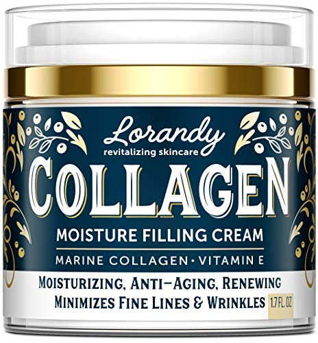 Collagen Cream - Anti-Aging Face Moisturizer for Women - Made in USA - Day & Night Moisturizer for Face - Marine Collagen Face Cream - Antiwrinkle Face Cream - Collagen Face Cream with Vitamin E