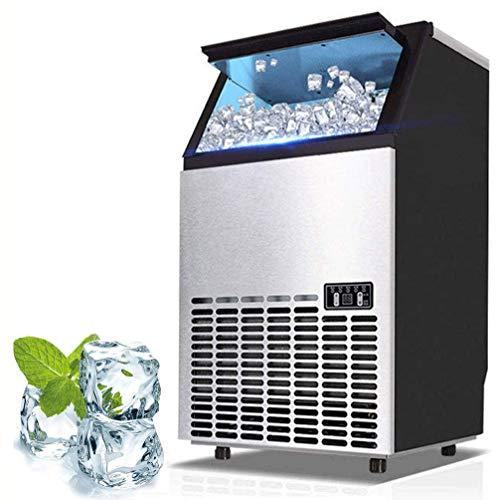 HIZLJJ Eiswürfelmaschinen, Kommerzielle Eis-Hersteller-Maschine, 176lbs Eis in 24 Stunden mit 33 lbs Speicherkapazität, Edelstahl Freistehend Eisherstellermaschine mit LCD-Display, ideal for Restauran