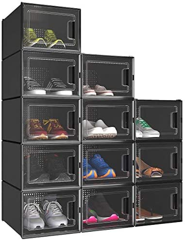 YITAHOME Shoe Box Set of 12 Shoe Storage Organizers Heavy Duty Stackable Clear Shoe Storage product image