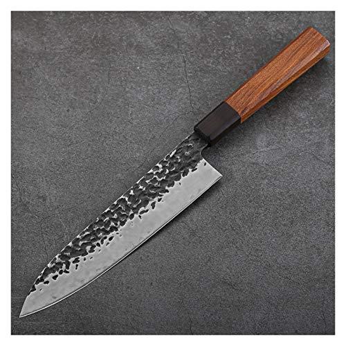 8 pulgadas Hecho a mano Cuchillo de cocinero Cuchillos de cocina japonesa 9CR18 Acero Cortar Herramientas de cocina Manejar Cuchillo de deshuesado Peces crudos Filetear herramienta de cocción juego de