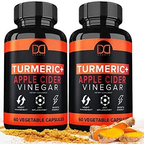 Max 45% OFF Turmeric Capsules Department store Supplement with Apple 1650 Vinegar Cider Pills
