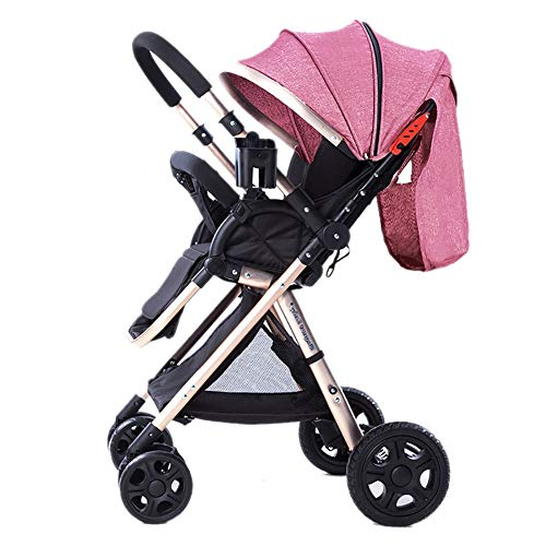 Best Bargain PeaceipUS High Landscape Baby Stroller Handle Reversible Infants Buggy Can Sit and Lie ...