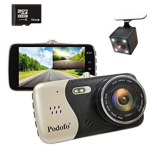 KAIFH Dashcam High-End-Überwachungsvideobewegungserkennung Für HD-Front- Und Heck-Dual-Pass-Fahrrekorder Mit 1080P-Grafikkarte, Installation Der Windschutzscheibe
