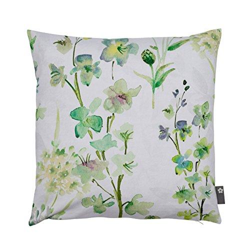 Pichler SALE Blumen Blüten / Sommerwiese Kissen ca. 50x50cm grasgrün