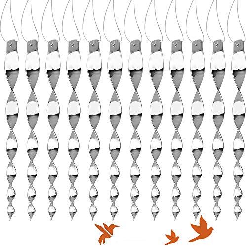 Supamz Vogelabwehr Reflektierendes Vogelschreck, 12 Stück Reflektierende Taubenabwehr Windspirale Vogel Abschreckung Vögel Vertreiben Windspiel Vogelschutz Taubenschreck Vogel Abwehr für Balkon Garten