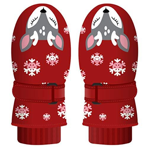 guanti rossi TRIWONDER Guanti Inverno Bambini