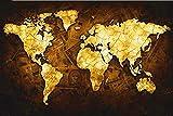 TTTTYYY Holz Puzzle (Weltkarte) Puzzle für Erwachsene Puzzlespiel Entspannung Puzzlespiele Brain...