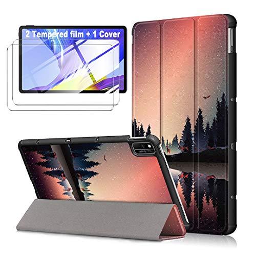 LJSM Funda para Huawei MatePad 10.4' 2020 BAH3-AL00 / BAH3-W09 + [2 Piezas] Vidrio Templado -...