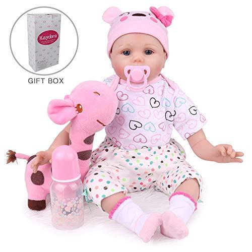 Kaydora Reborn Baby Doll 22 Inch Handmade Weighted Baby Girl Reborn Toddler with A Cute Giraffe
