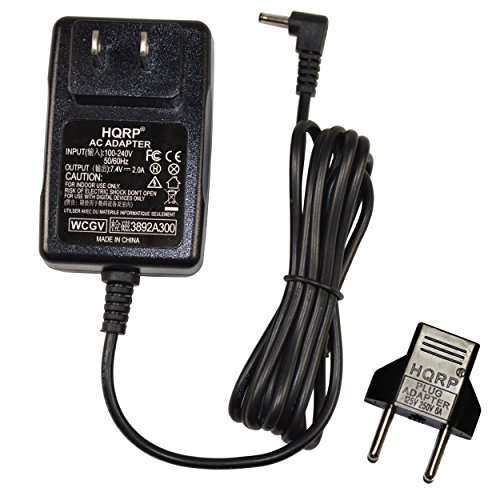 HQRP Wall AC Power Adapter for Canon PowerShot SX10 is / SX10IS / SX-10 is Digital Camera - (incl. USA Plug & Euro Adapter)