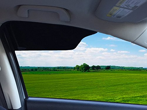 TuckVisor BLACKOUT Windshield Sunshade Best Sun Side Window Shade Visor Shades Sunshade Visors Extenders for Car Truck (2 Pack)
