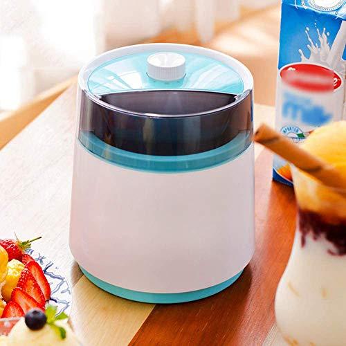 WAWB 800 ML Elektrische Eismaschine, Mit Kompressor-Frozen Yogurt-Milchshake Maschine-Flaschenkühler, Geeignet Für EIS Milchshake Usw Red,Rosa