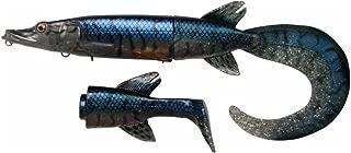 Savage Gear Hybrid Hard Pike Soft Tails, Blue Silver Pike