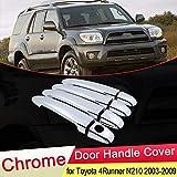 XIANGSHAN For Toyota 4Runner Hilux Surf N210 2003 2004 2005 2006 2007 2008 2009 manija de Puerta del Cromo Ajuste de la Cubierta del Coche Que Labra los Accesorios Set (Color Name : 2 Button 4 Door)