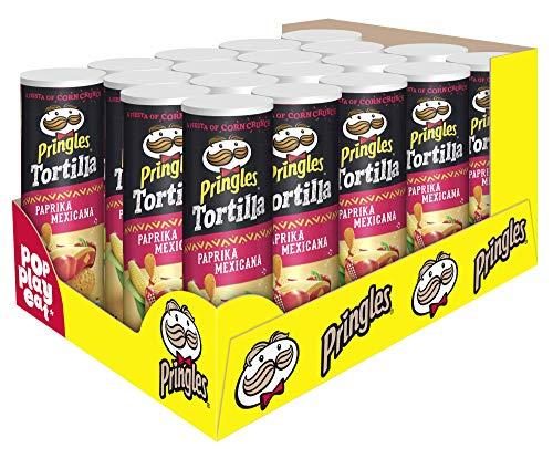 Pringles Tortilla Paprika Mexicana Chips   19er Vorratspackung (19x180g)