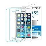 Novago - Protector de pantalla de cristal templado para iPhone 5, iPhone 5S, iPhone Se, iPhone 5C, con filtro de luz azul (2 unidades)