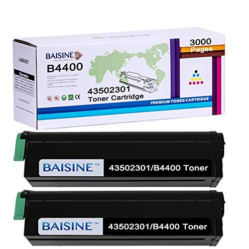 BAISINE Compatible Toner Cartridge Replacement for OKI 43502301 B4400 Okidata B4400, B4400n, B4600, B4600n, B4500, B4500n, B4550, B4550n - 3000 Pages (Black, 2-Pack)